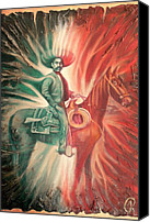 Emiliano Canvas Prints - Emiliano Zapata on Horse Canvas Print by Galeria Rossmore