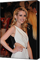 Metropolitan Museum Of Art Costume Institute Canvas Prints - Emma Roberts At Arrivals For Alexander Canvas Print by Everett