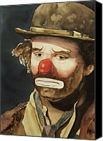Clown Canvas Prints - Emmett Canvas Print by Linda Halom