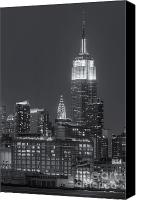 America Canvas Prints - Empire State and Chrysler Buildings at Twilight II Canvas Print by Clarence Holmes