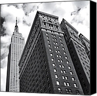 Nyc Canvas Prints - Empire State Building - New York City Canvas Print by Vivienne Gucwa