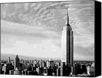 The City That Never Sleeps Canvas Prints - Empire State Building BW16 Canvas Print by Scott Kelley