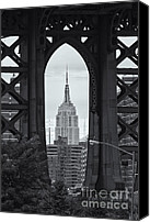 Manhattan Canvas Prints - Empire State Building Framed Canvas Print by Clarence Holmes