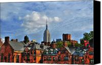 Townhomes Canvas Prints - Empire State Building from the High Line Canvas Print by Randy Aveille