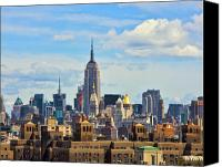 Empire Photo Canvas Prints - Empire State Building Canvas Print by June Marie Sobrito