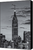 Building Canvas Prints - Empire State Building Morning Twilight IV Canvas Print by Clarence Holmes