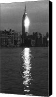 City Canvas Prints - Empire State Building NYC  Canvas Print by Steven Huszar