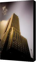 Empire Photo Canvas Prints - Empire State Building Canvas Print by Patrick  Flynn