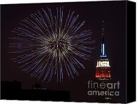 4th July Canvas Prints - Empire State Fireworks Canvas Print by Susan Candelario