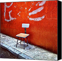 Street Canvas Prints - Empty Chair Canvas Print by Julie Gebhardt