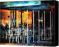 Tables Canvas Prints - Empty Chairs And Empty Tables Canvas Print by Zeana Romanovna