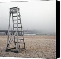 Panama City Beach Photo Canvas Prints - Empty Lifeguard Chair Canvas Print by Skip Nall