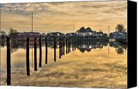 Docks Photo Canvas Prints - Empty Marina Canvas Print by Gert Lavsen