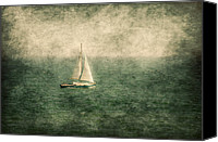 Tourism Mixed Media Canvas Prints - Empty Yacht  Canvas Print by Svetlana Sewell
