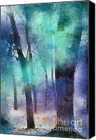 With Photo Canvas Prints - Enchanted Forest. Painting with Light Canvas Print by Jenny Rainbow