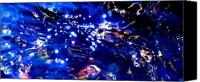 Abstract Expressionist Mixed Media Canvas Prints - Enchanted Night Canvas Print by Terril Heilman