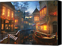 Night  Canvas Prints - Enchanted Waters Canvas Print by Joel Payne
