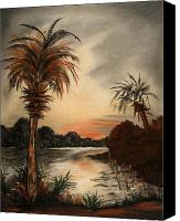 Tropical Sunset Pastels Canvas Prints - Enchantment Reflected Canvas Print by Shelby Kube