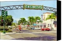 Theater Canvas Prints - Encinitas California Canvas Print by Mary Helmreich