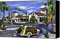 Woody Canvas Prints - Encinitas Dreaming Again Canvas Print by Lisa Reinhardt
