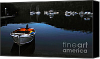 Yachts Canvas Prints - End of a Beautiful Day Canvas Print by Kaye Menner