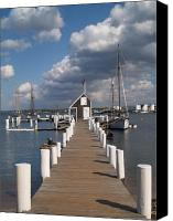 East Coast Canvas Prints - End of the Dock Canvas Print by Richard Mansfield