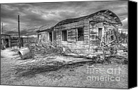 Kelso Canvas Prints - End of the Dream Monochrome Canvas Print by Bob Christopher