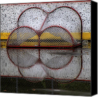 Hockey Goalie Canvas Prints - End Of The Season Canvas Print by Andrew Fare