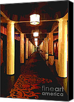 Hall Way Canvas Prints - Endless Hall Canvas Print by Cheryl Young