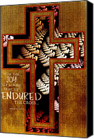 Biblical Art Canvas Prints - Endurance Canvas Print by Bonnie Bruno