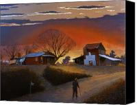 Country Scenes Painting Canvas Prints - Endurance Canvas Print by Doug Strickland