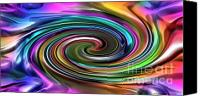 Energetic Canvas Prints - Energetic Organica 2020 Series No.2  Fluidica Canvas Print by Michael C Geraghty