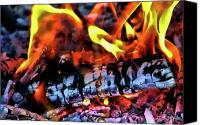 Fire Wood Canvas Prints - Energy Canvas Print by Joetta West