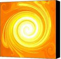 Second Chakra Canvas Prints - ENERGY-Spiral Canvas Print by Ramon Labusch