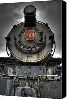 Locomotive Canvas Prints - Engine 460 Front and Center Canvas Print by Scott  Wyatt