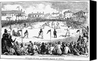 1842 Canvas Prints - England: Cricket, 1842 Canvas Print by Granger