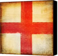 Patriotism Photo Canvas Prints - England flag Canvas Print by Setsiri Silapasuwanchai