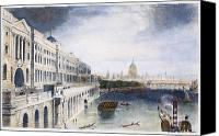River Transportation Canvas Prints - England: London, 1852 Canvas Print by Granger