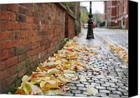 Time For Change Canvas Prints - English Autumn Cobblestones Canvas Print by David Dunne
