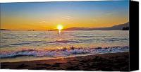 Ocean  Canvas Prints - English Bay - Beach Sunset Canvas Print by Eva Kondzialkiewicz