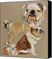 Pets Canvas Prints - English Bulldog Canvas Print by Barbara Keith