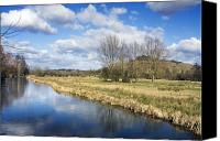 Waterway Canvas Prints - English countryside Canvas Print by Jane Rix