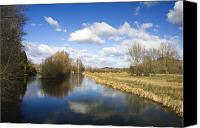 Waterway Canvas Prints - English countryside1 Canvas Print by Jane Rix