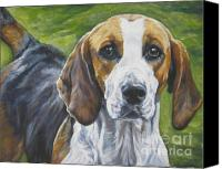 Foxhound Canvas Prints - English Foxhound Canvas Print by Lee Ann Shepard