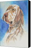 Pets Canvas Prints - English Setter Canvas Print by Barbara Keith
