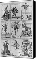 Acrobats Canvas Prints - Engravings From The Great Tableau Canvas Print by Science Source