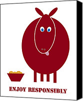 Donkey Canvas Prints - Enjoy Responsibly Canvas Print by Frank Tschakert