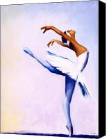 Blue Swan Canvas Prints - Enjoy the Dance Canvas Print by Jerome Lawrence