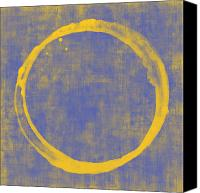 Circle Digital Art Canvas Prints - Enso 1 Canvas Print by Julie Niemela