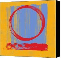 Orange Digital Art Canvas Prints - Enso Canvas Print by Julie Niemela
